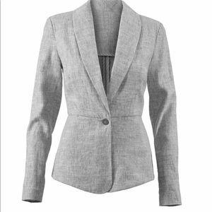 Cabi 215 Blue Gray Linen Blazer Jacket 10